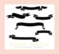 ribbon & banner silhouettes digital clip art for par summitavenue