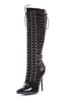 Shoplink: http://www.bittersweetsecrets.de/schuhe/stiefel/stiefel-ellie-shoes-savannah-lack.html
