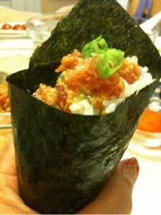 Mark's Spicy Tuna (Sushi Hand Rolls)