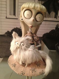 Weird Girl and Mr. Whiskers from Frankenweenie. For some reason I see myself.