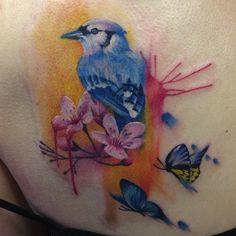 bird tattoo by Lianne Moule