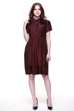 a4c36edfe2bb8 Zuri Zuri By Flora Women s Short Sleeve Fit and Flare Dress Medium Red at  Amazon Women s
