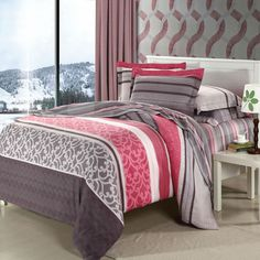Red Brown and White Modern Chic Exotic Indian Tribal Pattern Gorgeous Southwestern Brushed Cotton Full, Queen Size Bedding Sets Cotton Bedding Sets, Comforter Sets, Bed Duvet Covers, Duvet Cover Sets, Colorful Bedding, Bedclothes, Bed Styling, Queen Size Bedding, Quilt Cover