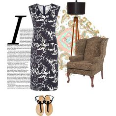 """Carla Print Stretch Dress"" by nougatlondon on Polyvore"