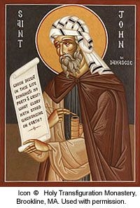 St. John of Damascus pray for us and theology students, pharmacists and icon painters.  Feast day December 4.