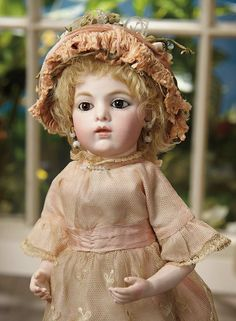Sanctuary: A Marquis Cataloged Auction of Antique Dolls - March 19, 2016: 76 Petite French Bisque Bebe, Size 2, by Leon Casimir Bru with Exquisite Expression