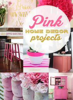 16 pretty pink home decor projects   http://creativehome.mohawkflooring.com/p=4316