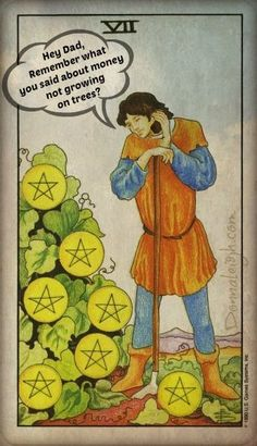 Out of DL's Card Bag. The 7 of Pentacles Calls Home.  Donnaleigh's Blog
