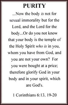 Not only purity, but everything to do with our bodies.