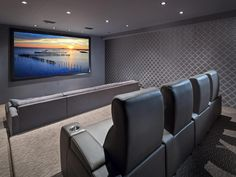 Home theaters setup Home Theater Designs From CEDIA 2014 Finalists Home Theater Room Design, Home Cinema Room, Home Theater Setup, Home Theater Rooms, Theatre Design, Movie Theater, Dream Theater, Cinema Theatre, Theater Seating