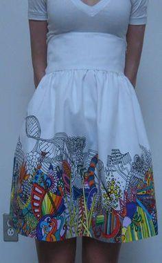Doodle Skirt, so cute