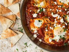 15 Recipes to Up Your Vegetable Intake—for Breakfast  Eggs Poached in Tomato Sauce (Shakshuka)
