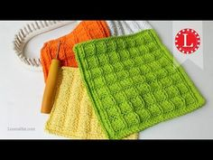 LOOM KNITTING Dishcloth Washcloth Waffle Stitch Project Pattern | Loomahat - YouTube
