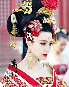 TV Play Great Tang Empress - Wu Meiniang Actress Costume Hanfu Hair Accessory Hair Jewelry Set