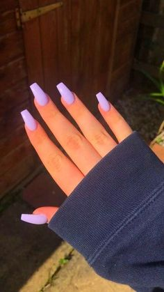 Purple Acrylic Nails, Acrylic Nails Coffin Short, Square Acrylic Nails, Summer Acrylic Nails, Best Acrylic Nails, Purple Nails, Summer Nails, Lilac Nails Design, Coffin Nails