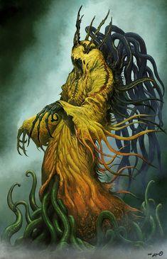 Fantasy Monster, Monster Art, Warrior Drawing, Lovecraftian Horror, Eldritch Horror, Dark Artwork, Hp Lovecraft, Horror Monsters, Call Of Cthulhu