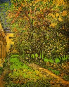 The Garden of Saint-Paul Hospital, 1889 by Vincent van Gogh. Post-Impressionism. cityscape. Rijksmuseum Kröller-Müller, Otterlo, Netherlands