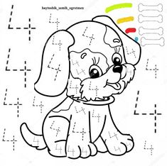 Numbers Preschool, Preschool At Home, Preschool Math, Math Activities, Printable Preschool Worksheets, Kindergarten Worksheets, Childhood Education, Kids Education, Abc Coloring Pages