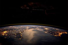 European lights from space.