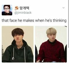 Yahhh! We have the same habit, I always pout when I'm thinking or whenever I space out. Though mine looks horrible when I do it.  Waah Chimchim why do you look so cuute??? Saranghae Chimchim ♡♡