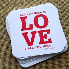 Beatles All You Need Is Love Coasters designcorral.com