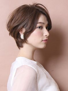 That short hair ♥♥♥ Short Hairstyles For Women, Cool Hairstyles, Shot Hair Styles, Pelo Pixie, Hair Arrange, Asian Hair, Asian Short Hair, My Hairstyle, Great Hair