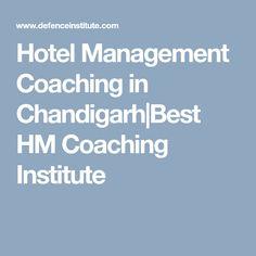 Hotel Management Coaching in Chandigarh Best HM Coaching Institute
