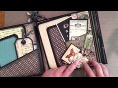 Graphic 45 Olde Curiosity Shope Mini Album/ My First Video! (+playlist)