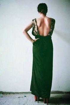 ''Pegasus'' #black #maxi #dress by #nidodileda #clothing #openback #bohemian #womanity