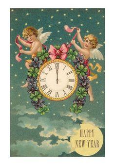 Hiver & Noel : cartes postales anciennes  nouvel an