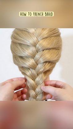 Cute Simple Hairstyles, Cute Hairstyles For Medium Hair, French Braid Hairstyles, Mom Hairstyles, Braided Hairstyles Tutorials, French Braid Tutorials, Hair Up Styles, Medium Hair Styles, Easy French Braid