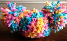 Crochet Baby Hat -Pom Pom Hat - Baby Afro Puff Hat - Newborn Baby Hat   DopeCrochet.com
