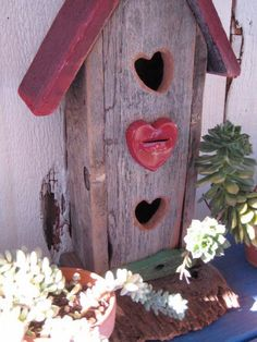Birdhouse  Rustic Winter Cottage  Reclaimed Wood by buckleberry, $24.00