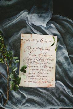 calligraphy from Russia wedding shoot #trendybride