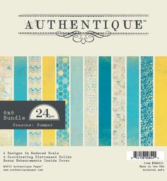 Authentique - Seasons Summer Collection - 6x6 Paper Pad