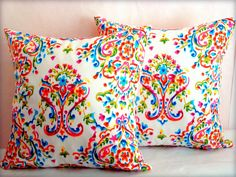 Multicolor reversible pillow sham – 20x20 pillow cover – Damask flower cushion cover – Dots throw pillow – Prada Indoor outdoor home decor by SABDECO on Etsy https://www.etsy.com/listing/190906370/multicolor-reversible-pillow-sham-20x20