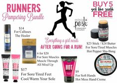 Perfectly Posh Runner's Bundle - Let Posh help you heal! https://www.perfectlyposh.com/Jeanettejunior
