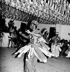 Opo Aganju Xango Ceremony  Lauro de Freitas, Bahia, Brasil  1972-1973  Photo by Pierre Verger