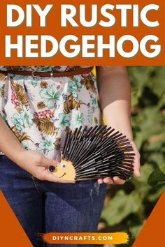 Follow a simple tutorial for making a cute fall hedgehog craft with kids! Three unique ideas make this a fun custom project for fall. This is a cute upcycled craft project for kids and a perfect homeschooler craft for fall! #hedgehog #upcycled #kidscraft #fallcraft #fall #thanksgiving #woodlandcreature Easy Paper Crafts, Easy Diy Crafts, Fall Crafts, Crafts To Make, Pistachio Shells, Hedgehog Craft, Craft Projects For Kids, Upcycled Crafts, Woodland Creatures