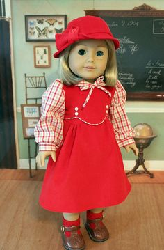 1930's Frock and Hat for Kit or Ruthie by BabiesArtUs on Etsy, $57.00