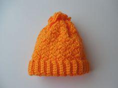 Crochet Baby Hat  3 to 6 Months  Orange  by ShelleysCrochetOle, $5.00