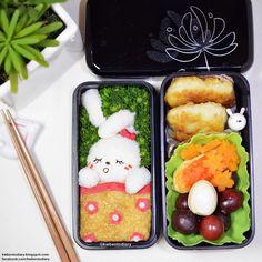 Karenwee's Bento Diary: Bento2015#Sep14~Bunny Sleeping Bento