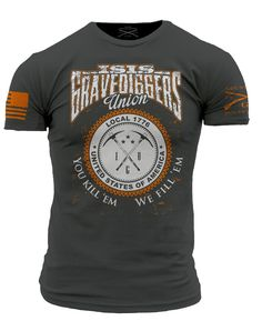 Star Spangled 1776 - ISIS Gravediggers T-Shirt- Grunt Style Men's Short Sleeve Tee Shirt