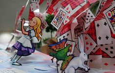 Alice in Wonderland pop up book by neridakirkley, via Flickr