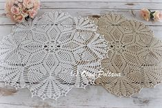 Pineapple Bouquet doily pattern by Olga Poltava, 17 inches across
