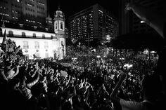 Junho 2013- Avenida Rio Branco, Rio de Janeiro, Brasil - Manifestação pública contra desmandos do governo