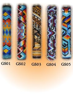 Native+American+Fans | ... stitch (peyote stitch) fan handles | Native American Style Bead