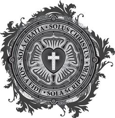 """""""Luther Rose Christian Luther Seal"""" Stickers by Carl Huber Reformation Day, Protestant Reformation, Reformation History, Christian Symbols, Christian Faith, Christus Tattoo, Lutheran Humor, Martin Luther Reformation, Seal Tattoo"""