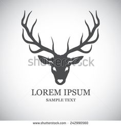 Deer head - vector illustration from Pelenga