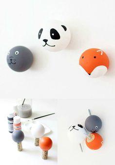 DIY creative wall hooks via WeeBirdy.com. #tutorials #DIY #craft